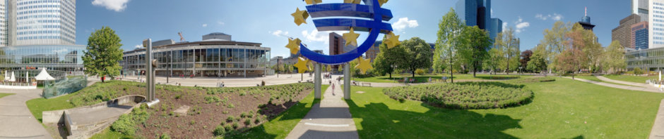 Euro Symbol near European Central Bank