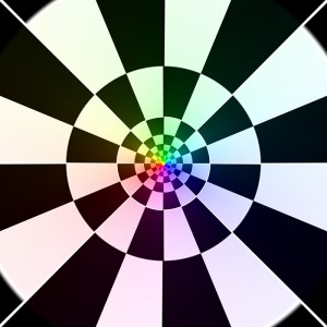 Coloured Chequered Cloverleaf Projection