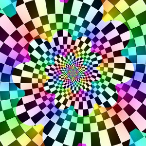 Coloured Chequered Droste Spiral