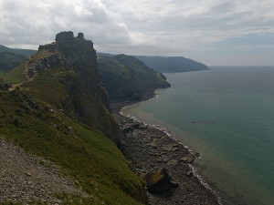 Castle Rock near Lynton (Devon, England)