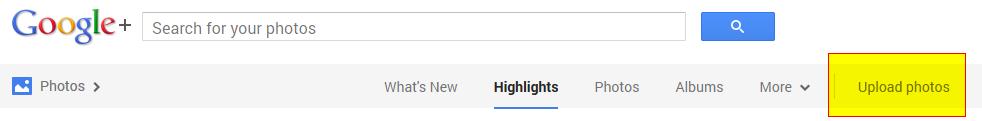 Google+ -Uploading Images