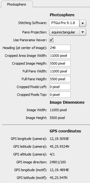 Custom file info panel within Photoshop CC, populated