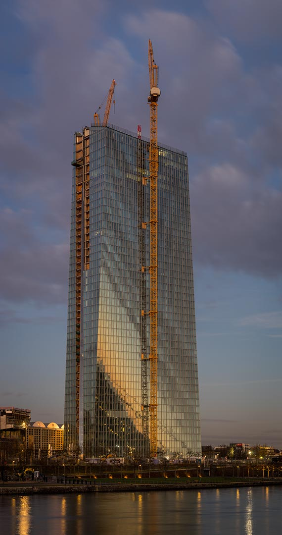 Construction site of the European Central Bank in Frankfurt am Main