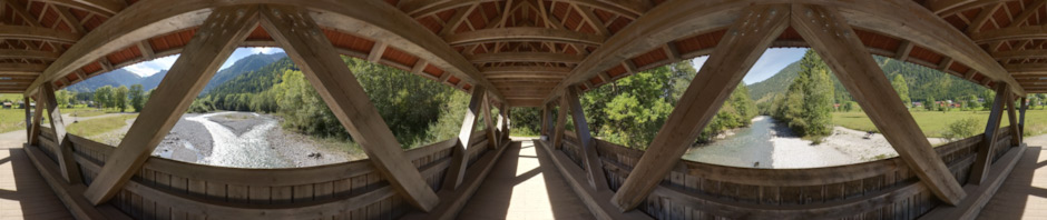 Wooden Framework Bridge over Ostrach