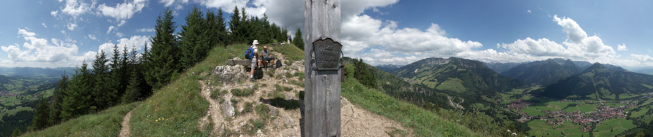 Cross on summit of mount Hirschberg