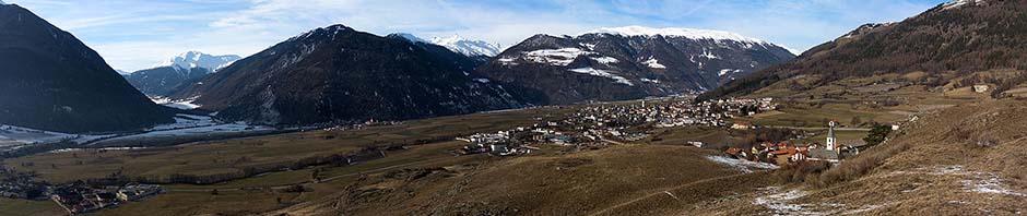 View towards Mals from the Tartscher Bühel