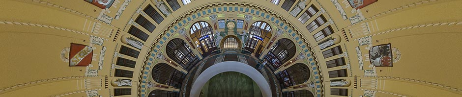 Prague Main Station Entrance Dome – Stereographic Down