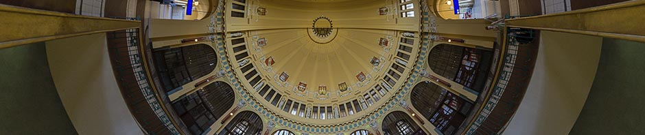 Prague Main Station Entrance Dome – Stereographic Up