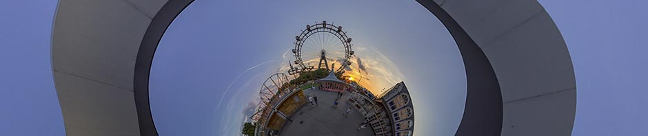 Wiener Prater Ferrris Wheel – Stereographic Down