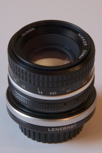Nikon 50mm/F1.8 and Lensbaby Tilt Transformer