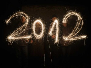 In this image we used sparklers to write 2012 in the air.