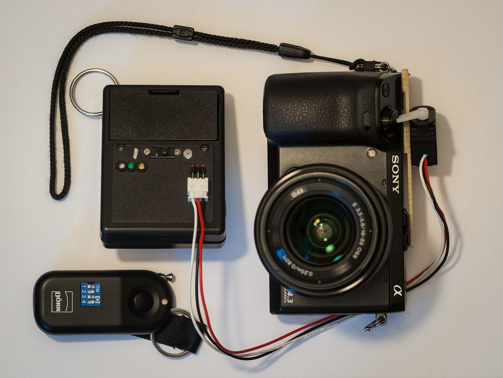 Wireless remote control and panorama setup for sony nex