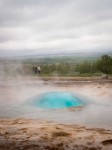 Strokkur starting to erupt