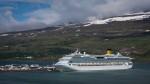 View of fjord Eyjafjörður