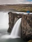 Standing at Goðafoss