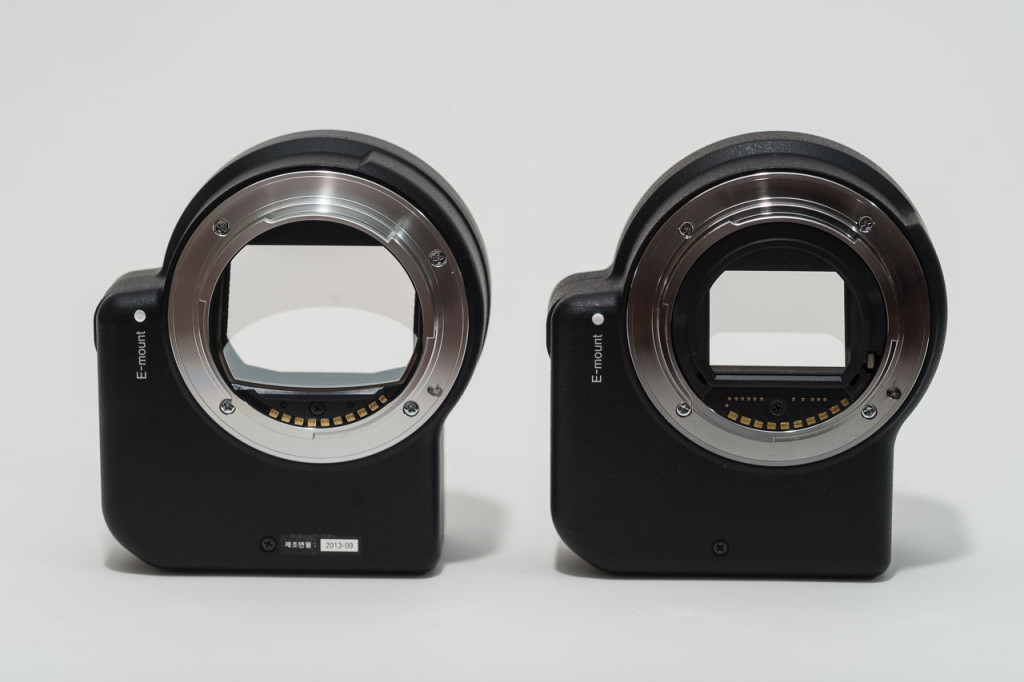 Sony LA-EA4 (left) and Sony LA-EA2 (right)