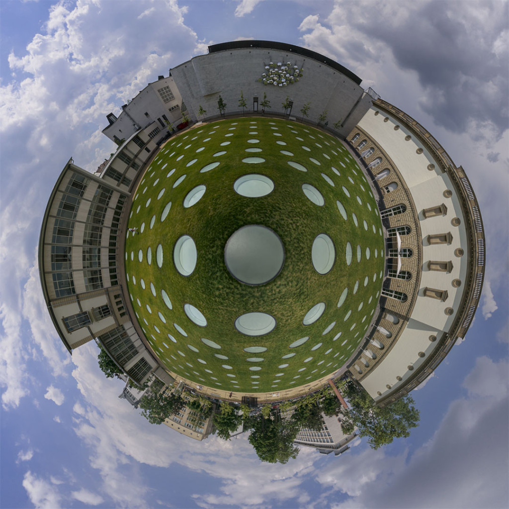 Städel Museum Frankfurt Courtyard Little Planet Reprojection