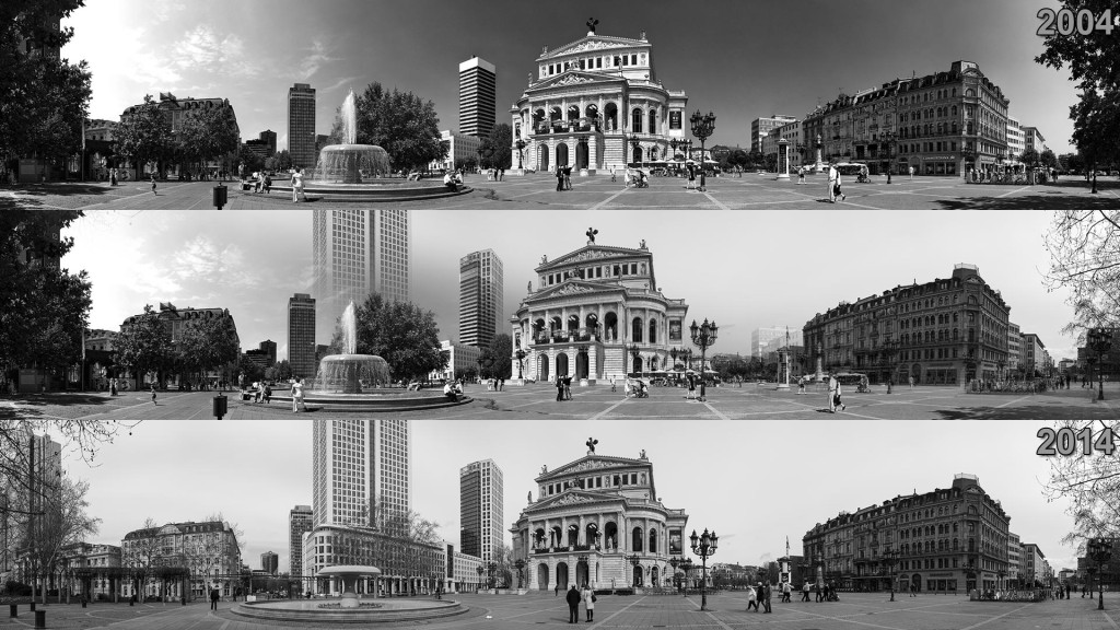 Opernplatz (Frankfurt am Main) 2004 and 2014