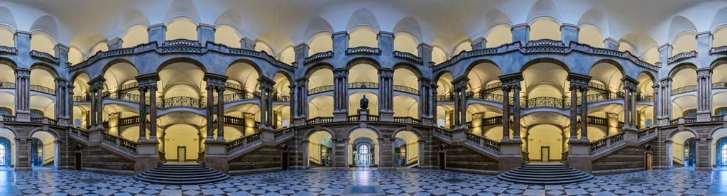 Atrium of the Bavarian Ministry of Justice - Mercator projection