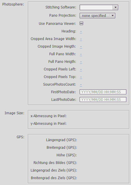 Custom file info panel within Photoshop CC 2014, empty