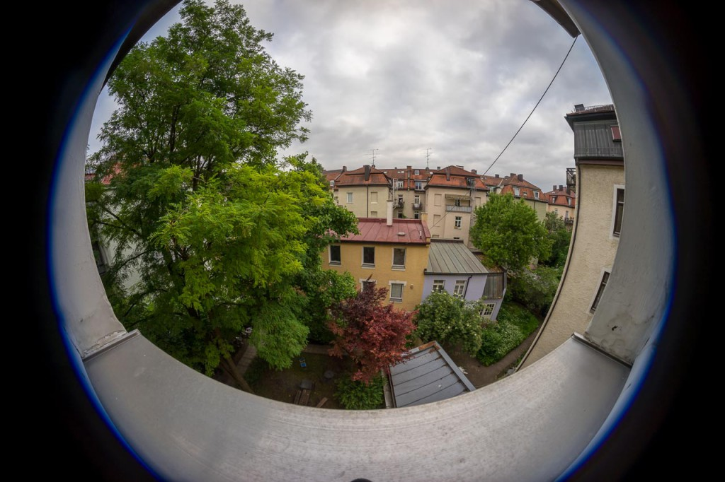 Samyang 8mm fish eye lens on full frame sensor