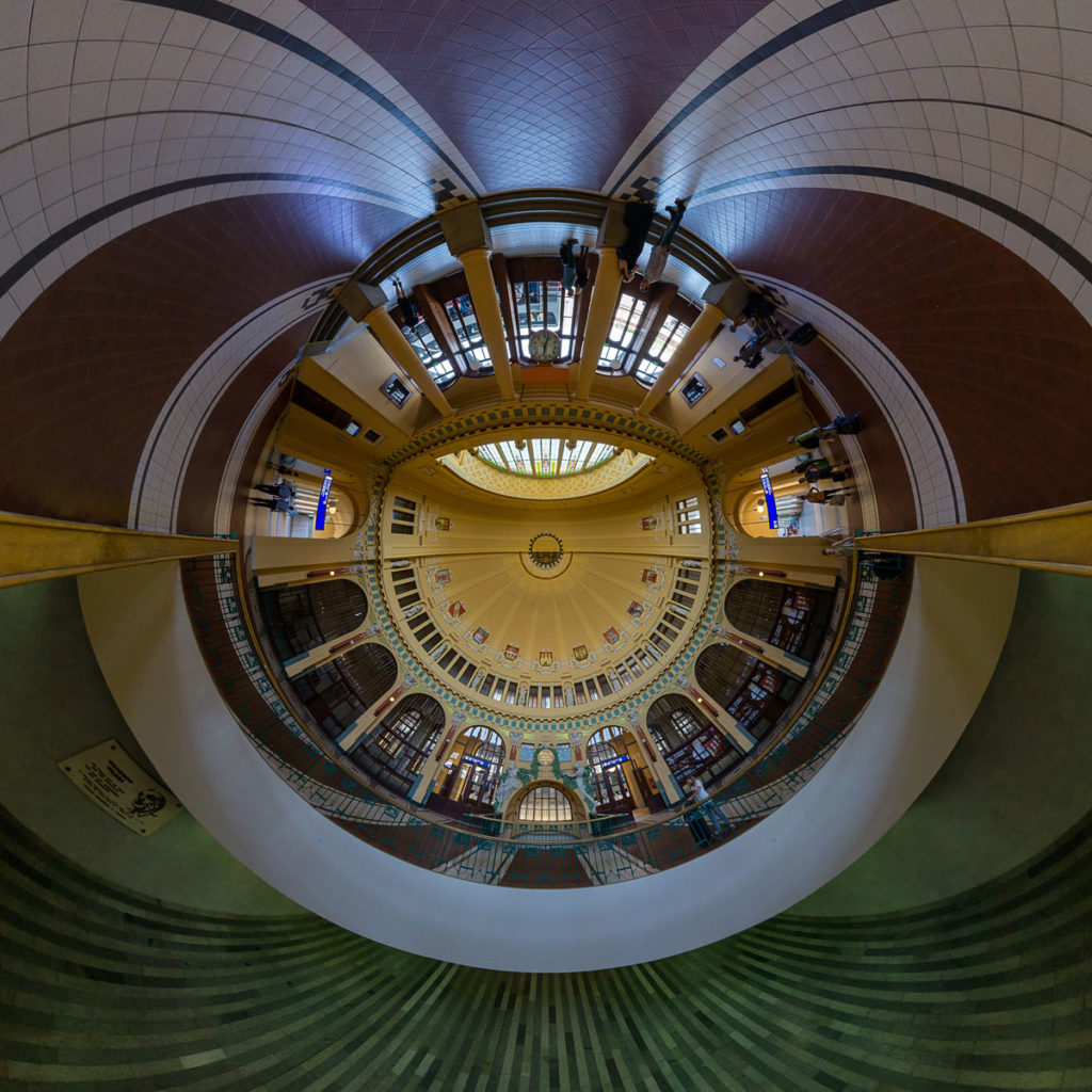 Prague Main Station Entrance Dome - Stereographic Up