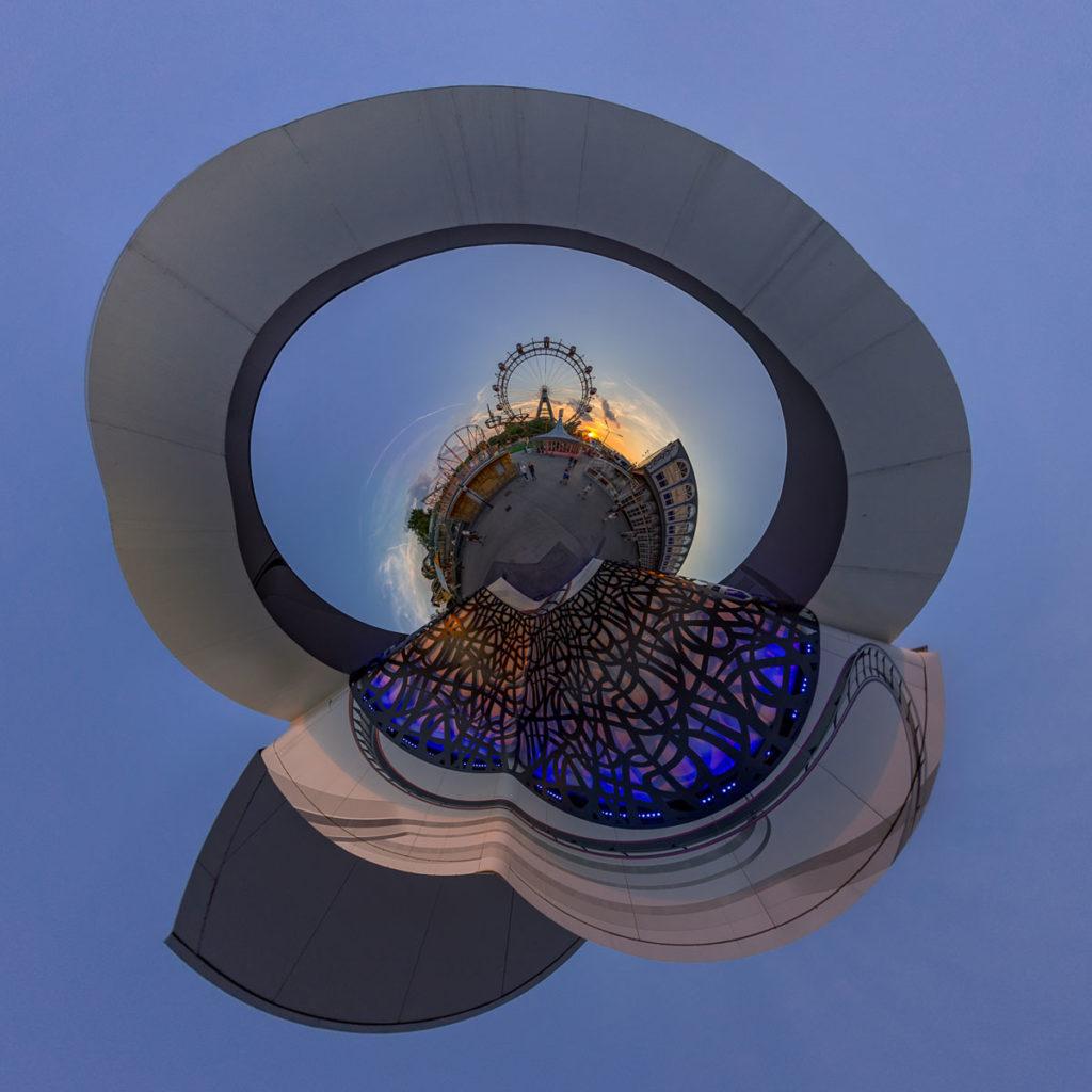 Wiener Prater Ferrris Wheel - Stereographic Down